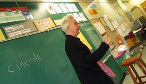 Michel Gauthier lors d'un atelier Cinécole