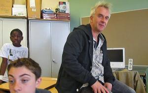 Michel en classe