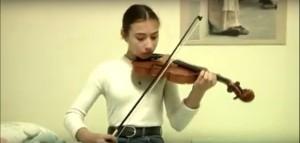 La fille au violon